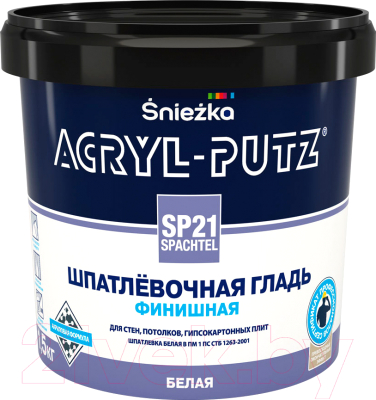 Шпатлевка Sniezka Acryl Putz SP21 Finish (1.5 кг, белый)