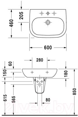 Умывальник Duravit D-Code (23106000002)