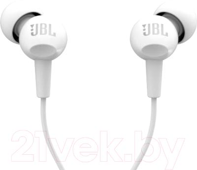 Наушники-гарнитура JBL C100SIU / JBLC100SIUWHT (белый)