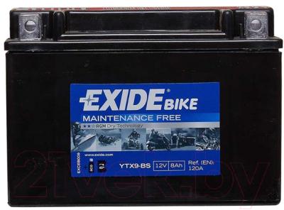 Мотоаккумулятор Exide ETX9-BS (8 А/ч)