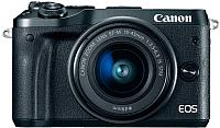 Беззеркальный фотоаппарат Canon EOS M6 Kit 15-45mm IS STM / 1724C043AA (черный) -