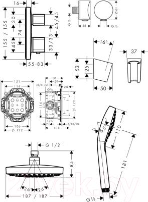 Душевая система Hansgrohe Croma Select E 27294000