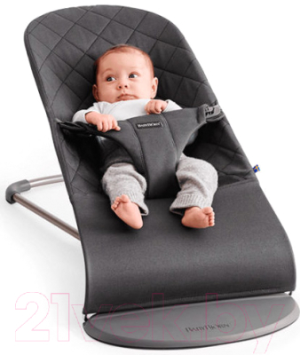 Детский шезлонг BabyBjorn Bliss Cotton Anthracite 0060.21