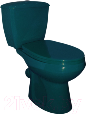 Унитаз напольный Оскольская керамика Элисса (зеленый, с гофрой)
