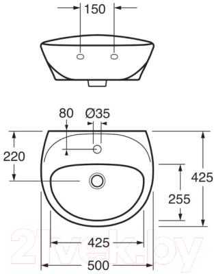 Умывальник Gustavsberg Estetic 410350S3 (белый матовый)