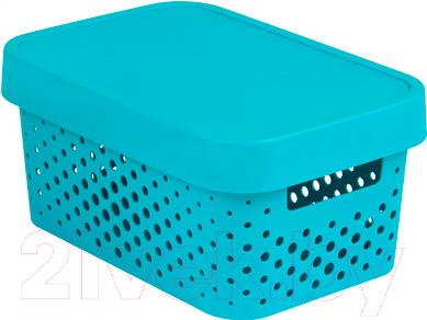 Купить Ящик для хранения Curver, 04760-X33-00 / 229118 (синий), Польша, пластик