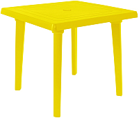 Стол пластиковый Алеана Квадратный 80x80 / 100012 (желтый) -