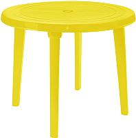 Стол пластиковый Алеана Круглый D90 (желтый) -