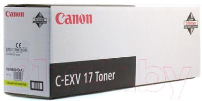 Тонер-картридж Canon C-EXV17Y (0259B002)