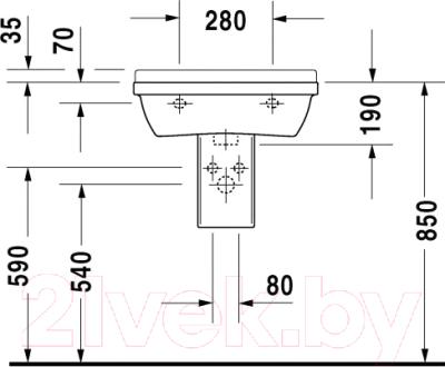 Умывальник Duravit Starck 3 50x36 (0300500000)