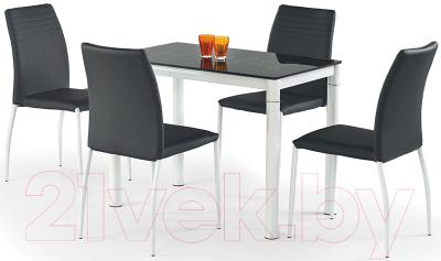 Обеденный стол Halmar Argus (черно-белый)