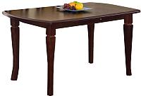 Обеденный стол Halmar Fryderyk 160-200x80 (темный орех) -