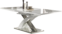 Обеденный стол Halmar Sandor 2 160-220x90 (серо-белый) -