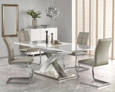 Обеденный стол Halmar Sandor 2 160-220x90 (серо-белый)