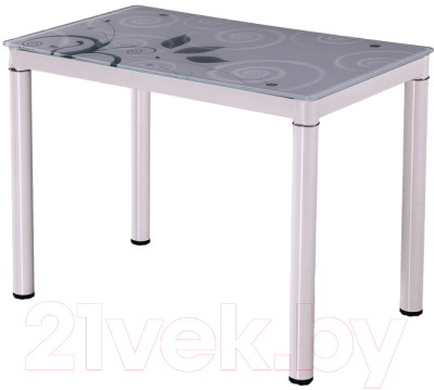Обеденный стол Signal Damar 80x60 (белый)