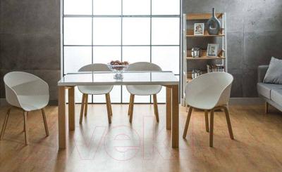 Обеденный стол Signal Egon (белый/бук)