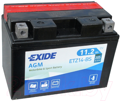Мотоаккумулятор Exide Bike Maintenance Free ETZ14-BS (11.2а/ч)