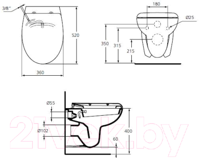 Унитаз подвесной Ideal Standard Eurovit W705501