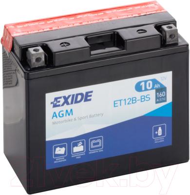 Мотоаккумулятор Exide ET12B-BS (10 А/ч)