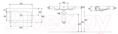 Умывальник Keramag iCon 75x48.5 (124078-000)