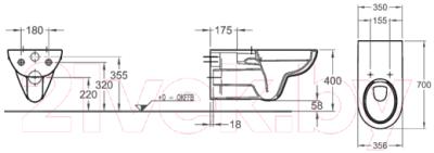 Унитаз подвесной Keramag Renova Nr.1 Comfort 208570000