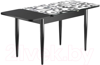 Обеденный стол Васанти Плюс ПРФ 120/163x80/1Р/ОЧ (черный/122)