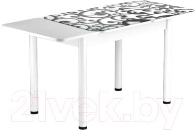 Обеденный стол Васанти Плюс ПРФ 120/163x80/Р/ОБ (белый/122)