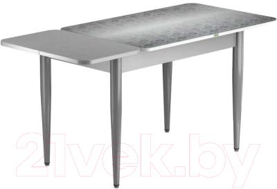 Обеденный стол Васанти Плюс ПРФ 120/163x80/1Р/ОА (аллюминий/Жасмин А)