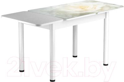 Обеденный стол Васанти Плюс ПРФ 110/153x70/Р/ОБ (белый/120)