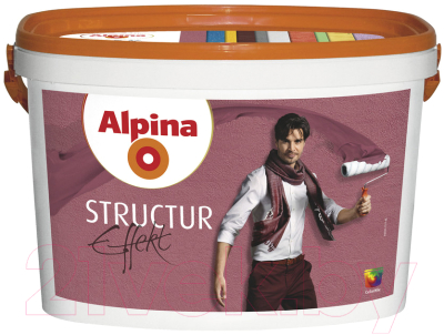 Краска декоративная Alpina Effekt Structur Weiss (5л)