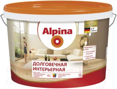Краска Alpina Долговечная интерьерная. База 1 (2.5л, белый)