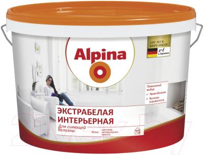 Краска Alpina Экстрабелая интерьерная (2.5л, белый)