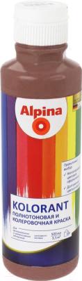 Колеровочная краска Alpina Kolorant Dunkelbraun (500мл, темно-коричневый )