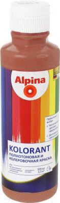 Колеровочная краска Alpina Kolorant Rotbraun (500мл, красно-коричневый)