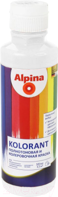 Колеровочная краска Alpina Kolorant Weiss (500мл, белый)