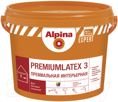 Краска Alpina Expert Premiumlatex 3. База 3 (9.4л)