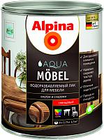 Лак Alpina Aqua Moebel (750мл, глянцевый) -