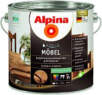 Лак Alpina Aqua Moebel (2.5л, шелковисто-матовый) -