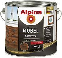 Лак Alpina Moebel (2.5л, глянцевый) -