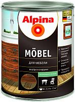 Лак Alpina Moebel (750мл, шелковисто-матовый) -