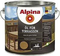 Масло для древесины Alpina Oel Fuer Terrassen (2.5л, средний) -