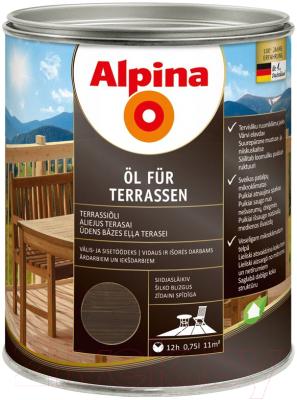 Масло для древесины Alpina Oel Fuer Terrassen (750мл, темный)