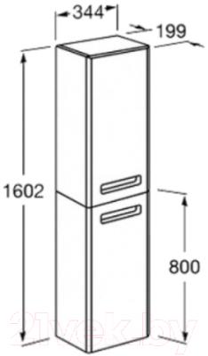 Шкаф-пенал для ванной Roca The GAP ZRU9302842 (тиковое дерево, правосторонний)