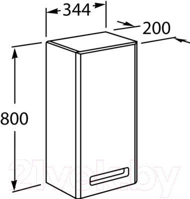 Шкаф-полупенал для ванной Roca The Gap ZRU9302841