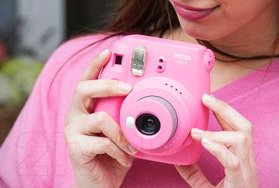 Фотоаппарат с мгновенной печатью Fujifilm Instax Mini 9 (розовый)