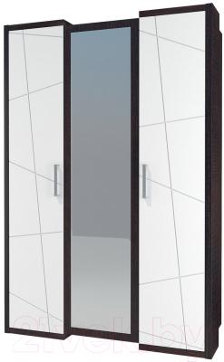 Шкаф Мебель-Неман Барселона МН-115-03-220 (белый глянец/дуб Ниагара)