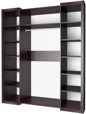Шкаф Мебель-Неман Барселона МН-115-04-220 (белый глянец/дуб Ниагара)