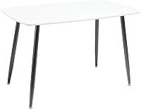 Обеденный стол Atreve Simon (белый/черный) -