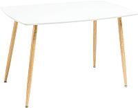 Обеденный стол Atreve Simon (белый/дуб) -