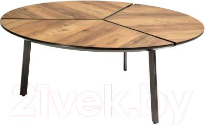 Журнальный столик Atreve Klara 1 (орех/металл черный)